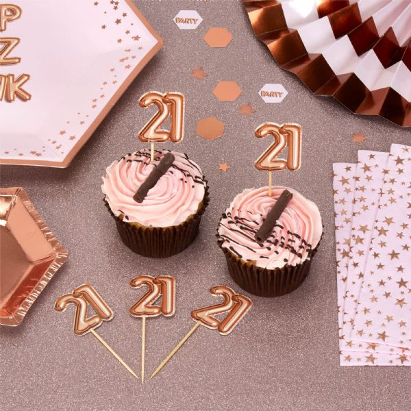 Glitz & Glamour Rose Gold Food Picks 21st (20)